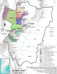 Comunidades Indígenas con territorios reconocidos. Prov. de Tucumán