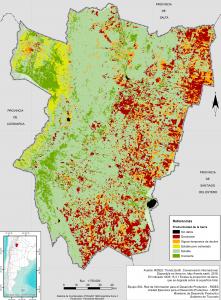 Áreas de tierras degradadas según el indicador ODS 15.3.1