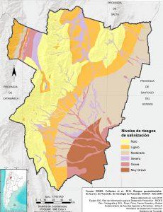 Áreas con riesgo de salinización. Prov. de Tucumán